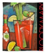 Bloody Mary Poster Fleece Blanket