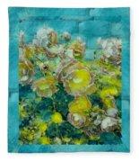 Bloom In Vintage Ornate Style Fleece Blanket