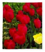 Bloom Where Your Planted Fleece Blanket