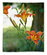 Bloom Where You're Planted Fleece Blanket