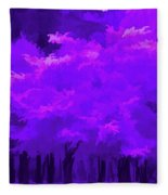 Blooming Amethyst Fleece Blanket