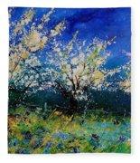 Blooming Appletrees 56 Fleece Blanket