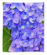 Blooming Blue Hydrangea Fleece Blanket