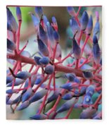 Blooming Bromeliads Collage Fleece Blanket