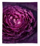 Blooming Cabbage Fleece Blanket