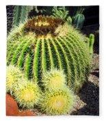Blooming Cactus Two Fleece Blanket