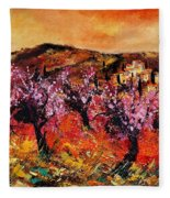 Blooming Cherry Trees Fleece Blanket