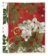 Blooming Christmas II Fleece Blanket