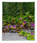 Blooming Cross Vines Along The Beach Fleece Blanket