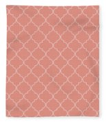 Blooming Dahlia Quatrefoil Fleece Blanket
