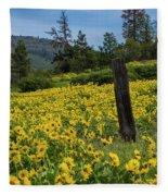 Blooming Fence Fleece Blanket