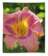 Blooming In Pink Fleece Blanket