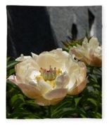 Blooming Peonies Fleece Blanket