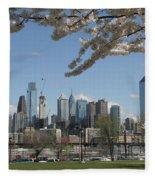 Blooming Philadelphia  Fleece Blanket