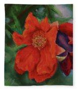 Blooming Poms Fleece Blanket