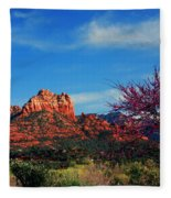 Blooming Tree In Sedona Fleece Blanket