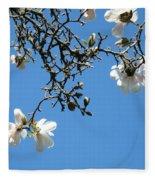 Blooming Trees Art Print White Magnolia Flowers Baslee Troutman Fleece Blanket