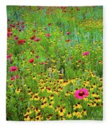 Blooming Wildflowers Fleece Blanket