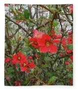 Blooms In The Alley Fleece Blanket
