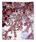 Blossom Artwork Spring Flowers Art Prints Giclee Fleece Blanket