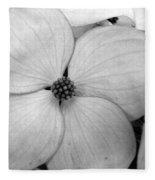 Blossom In Black And White Fleece Blanket