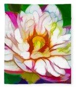 Blossom Lotus Flower Fleece Blanket