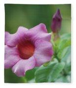 Blossom Of Allamanda Fleece Blanket