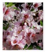 Blossoming Almond Branch Fleece Blanket