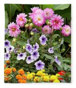 Blossoming Flowers Fleece Blanket