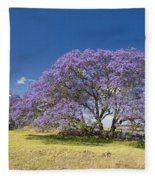 Blossoming Jacaranda Fleece Blanket