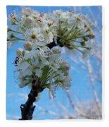 Blossoming Pear Fleece Blanket