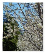 Blossoms And The Bard Fleece Blanket