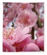Blossoms Art Print Pink Spring Blossom Baslee Troutman Fleece Blanket