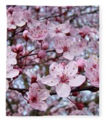 Blossoms Art Prints Nature Pink Tree Blossoms Baslee Troutman Fleece Blanket