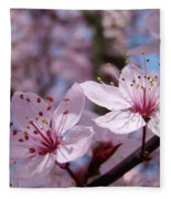 Blossoms Art Prints Pink Spring Tree Blossoms Canvas Baslee Troutman Fleece Blanket