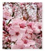 Blossoms Art Spring Pink Tree Blossom Floral Baslee Troutman Fleece Blanket