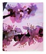 Blossoms At Sunset Fleece Blanket