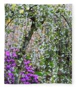 Blossoms Galore Fleece Blanket