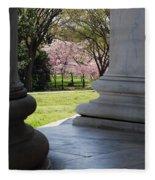 Blossoms Of The Columns Fleece Blanket