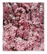 Blossoms Pink Tree Blossoms Giclee Prints Baslee Troutman Fleece Blanket