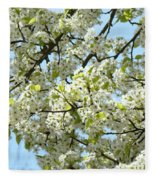 Blossoms Whtie Tree Blossoms 29 Nature Art Prints Spring Art Fleece Blanket