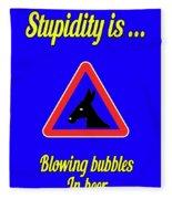 Blowing Bigstock Donkey 171252860 Fleece Blanket