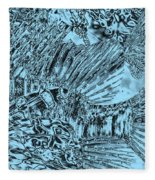 Blue Abstract - Lionfish Fleece Blanket