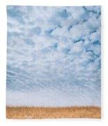 Blue And Amber Fleece Blanket