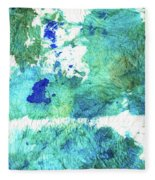 Blue And Green Abstract - Imagine - Sharon Cummings Fleece Blanket