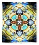 Blue And Green Stones 4 Fleece Blanket