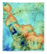 Blue And Orange Abstract - Time Dance - Sharon Cummings Fleece Blanket