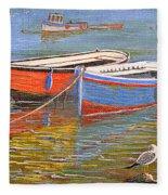 Blue And Orange Fleece Blanket