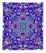 Blue And Pink Wallpaper Fractal 71 Fleece Blanket
