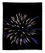 Blue And White Fireworks Fleece Blanket